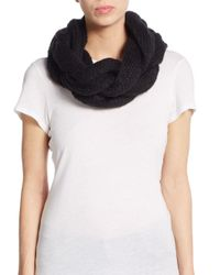 Saks Fifth Avenue | Black Full Course Infinity Scarf | Lyst