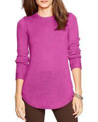 Lauren by Ralph Lauren | Purple Crewneck Sweater | Lyst
