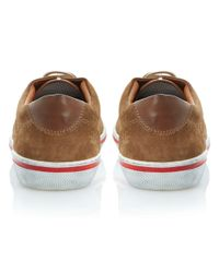 Dune - Brown Truant Lace Up Leather Plimsolls for Men - Lyst