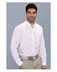 Vineyard Vines | Pink Lake Worth Stripe Linen Shirt for Men | Lyst