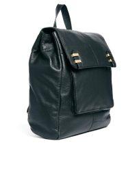 ASOS - Black Leather Soft Boysy Backpack - Lyst