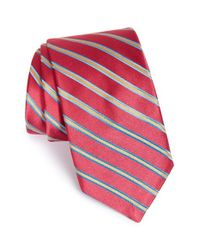 Ted Baker - Red 'candy Stripes' Silk Tie for Men - Lyst