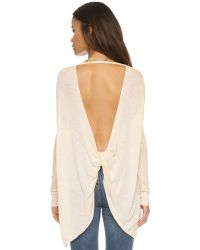 Free People - Natural Shadow Hacci Pullover - Alabaster Combo - Lyst