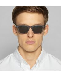 Saint Laurent - Gray Classic 2 Squareframe Acetate Sunglasses for Men - Lyst