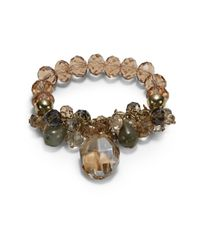 Saks Fifth Avenue | Multicolor Beaded Stretch Bracelet | Lyst