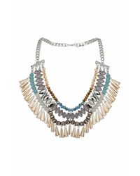 TOPSHOP - Blue Faceted Drop Statement Necklace - Lyst