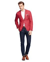 Brooks Brothers - Red Linen Sport Coat for Men - Lyst