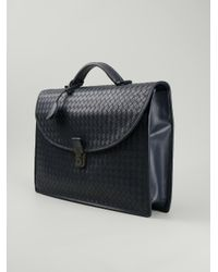 0fbdd5e10c38 Bottega Veneta Woven Briefcase in Blue for Men - Lyst
