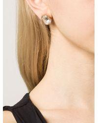 Rebecca - Metallic 'elizabeth' Marquis Post Earrings - Lyst
