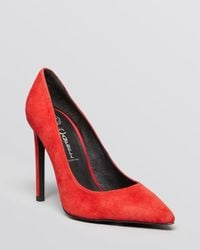 Jeffrey Campbell - Red Pointed Toe Pumps Pointy High Heel - Lyst
