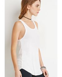 Forever 21 - White Ribbed Knit Tank - Lyst