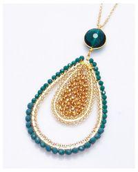 Nakamol - Multicolor SatinãƒÂ© Pendant Necklace-Green - Lyst