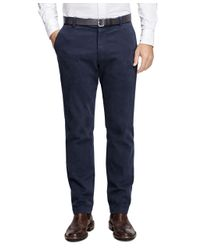 Brooks Brothers | Blue Clark Fit Brushed Twill Chinos for Men | Lyst