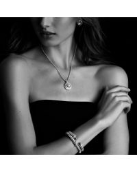 David Yurman | Metallic Cable Classics Bracelet with Amethyst and Diamonds | Lyst