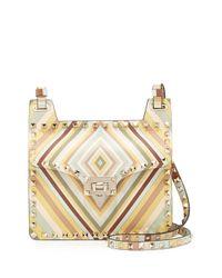 Valentino - Multicolor Rockstud Striped Shoulder Bag - Lyst
