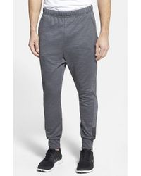 Adidas | Gray 'beyond The Run' Slim Fit Climalite French Terry Jogger Pants for Men | Lyst