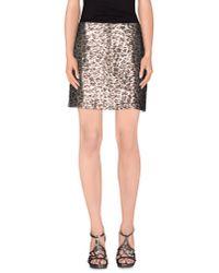 Love Moschino - Metallic Mini Skirt - Lyst