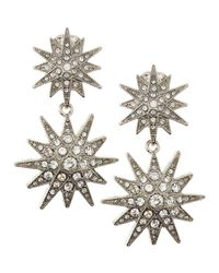 Kenneth Jay Lane | Metallic Pave Starburst Clip-On Earrings | Lyst