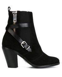 DIESEL - Black 'd-kinley' Ankle Boots - Lyst