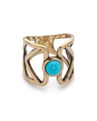 Pamela Love | Metallic Pathway Ring - Brass/Turquoise | Lyst
