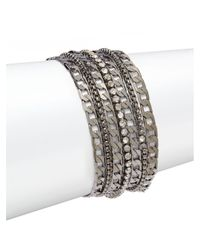 Saks Fifth Avenue - Metallic Mixed Chain Bracelet - Lyst