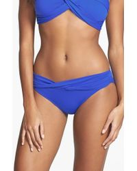 Seafolly | Blue 'Goddess' Hipster Bikini Bottoms | Lyst