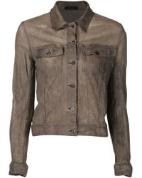 The Row - Brown Cropped Jacket - Lyst