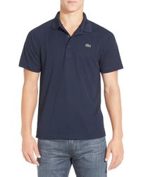 Lacoste | Blue 'sport' Raglan Ultra Dry Performance Polo for Men | Lyst
