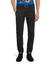 BOSS Green - Black Slim-fit Trousers: 'lautner 2-w' for Men - Lyst