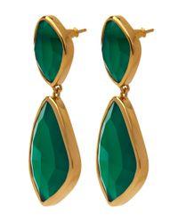 Monica Vinader - Gold-plated Green Onyx Siren Cocktail Earrings - Lyst