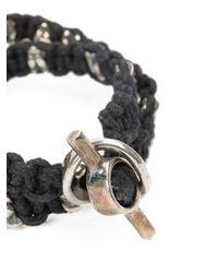 Tobias Wistisen | Black Braided Coin Bracelet for Men | Lyst