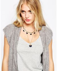 SELECTED - Blue Elected Femme Clara Two Pack Necklace - Lyst