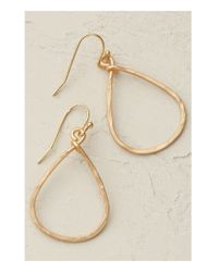 Anthropologie | Metallic Pandora Hoop Earrings | Lyst
