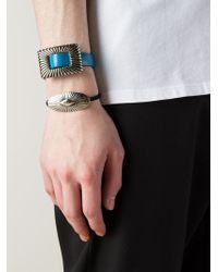 Toga - Blue Buckled Bracelet Duo for Men - Lyst
