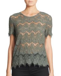 Generation Love | Green Maria Lace Top | Lyst