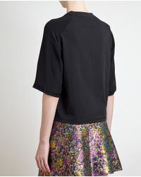3.1 Phillip Lim - Black Poodle Silk Sleeve Tshirt - Lyst