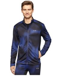 Calvin Klein - Blue Performance Printed Full-zip Jacket for Men - Lyst