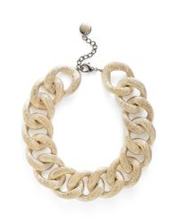 Pono | Metallic 'etched By Fire' Choker Necklace - Light Gold | Lyst