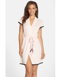 Betsey Johnson | Pink Rib Knit Robe | Lyst