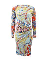 Emilio Pucci - Multicolor Mosaico Print Dress - Lyst