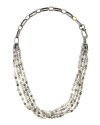 Gurhan | Metallic Quartz Bead Multi-strand Necklace | Lyst