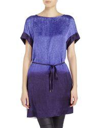 Stills - Purple Ombrã© Printed Tunic - Lyst