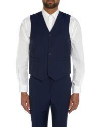 Paul Smith | Blue The Byard Mohair Plain Slim Fit Waistcoat for Men | Lyst