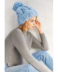 Urban Outfitters | Blue Birdseye Oversized Chunky Beanie | Lyst