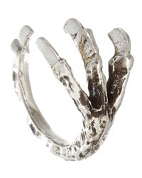 Pamela Love - Metallic Silver Talon Ring - Lyst