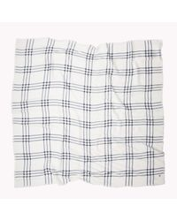 Tommy Hilfiger | Gray Cotton Viscose Houndstooth Scarf | Lyst