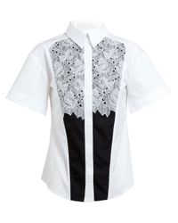 Peter Pilotto - Natural Cate Floral Lace Cotton Shirt - Lyst
