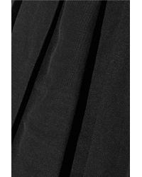 Alexander Wang - Black Pleated Ramie-blend Dress - Lyst