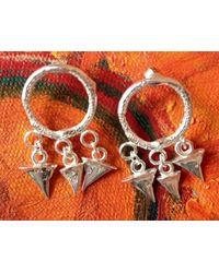 Lucky Little Blighters | Metallic Circle Of Thorns Earrings | Lyst