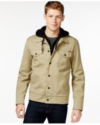 Hurley | Natural Hooded Trucker Jacket for Men | Lyst